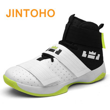 ФОТО jintoho men basketball shoes court male ankle boots for female couple anti-slip court sports sneakers outdoor size 39-45