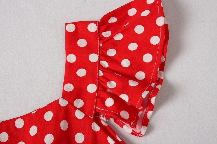 ALPHALMODA 18 New Polka Dot Shirt Pocket Dress Petal Sleeve Single Breasted Slim Sashes Women Fashion Summer Vestidos 15