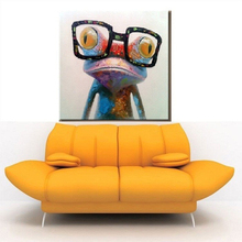 HASYOU Oil Painting hand painted on Canvas Abstract Animal Wall Art for Home Decoration Happy Frog