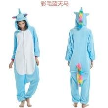 bb9edc6b49fc Onesie Wholesale Animal Kigurumi Pajamas Stitch Unicorn onesies Unisex Women  Hooded Sleepwear Adult Winter Flannel giraffe