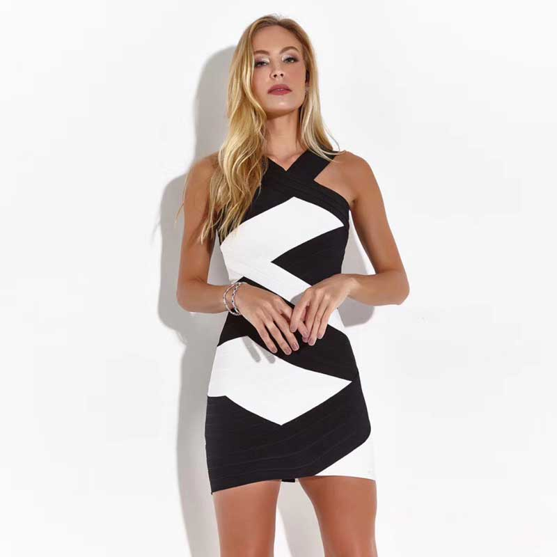 Kadın Giyim'ten Elbiseler'de Toptan 2019 Yeni kadın elbise Bej Derin V Yaka Slim fit Mini Seksi ünlü Gece kulübü kokteyl parti elbise'da  Grup 1