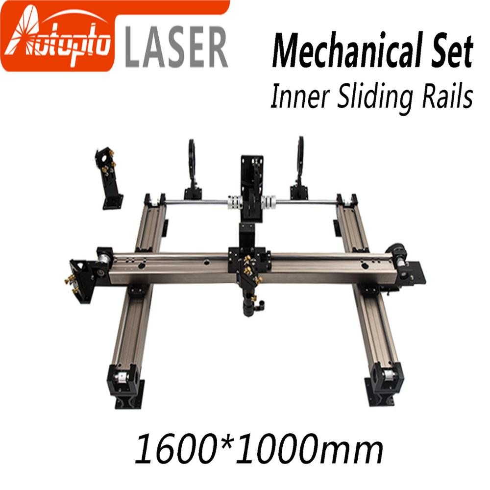 Mechanical Parts Set 1600*1000mm Inner Sliding Rails Kits Spare Parts for DIY 1610 CO2 Laser Engraving Cutting Machine