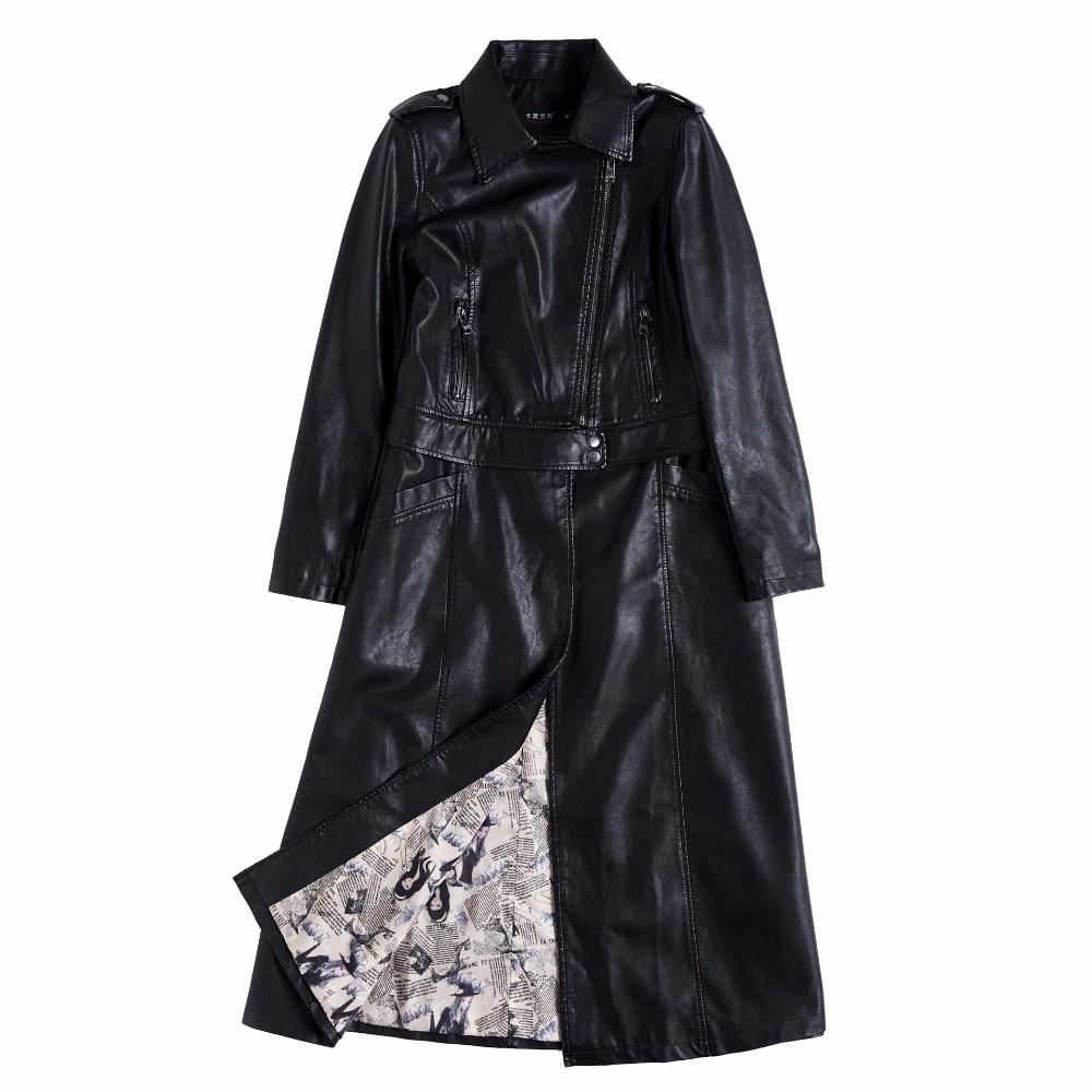 Long Deux Noir Ourlet Manteau En Pu rouge Sortes Cuir Amovible Longue Slim Porter Al557 Sac Veste Femmes Kelly De Coupe vent New OaRw44