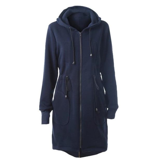 Мода Ветровка Женщин Пиджаки Теплый Шерсть Стройная Длинный Пальто Тренчкот для Женщин Feminino Casaco Oc24