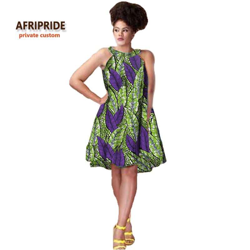 2018 afrička haljina za žene novi uzorak tkanine batik bazin riche femme odjeća bez rukava do koljena visoke kvalitete A722527
