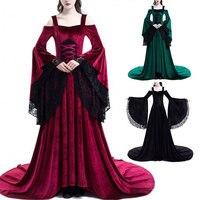 Victorian Georgian Period Women Dress Halloween Masquerade Ball Gown Reenactment Clothing Medieval Dress Halloween