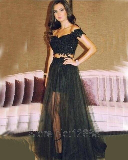 Vestidos cortos con tul negro