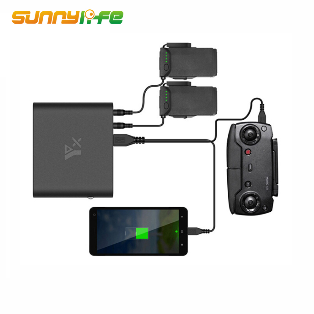 New Arrival Mobile Charging Power Bank Intelligent Battery Charger Outdoor Using Charger for DJI MAVIC AIR Drone Accessories dji spark drone 3 in 1 car charger battery charging