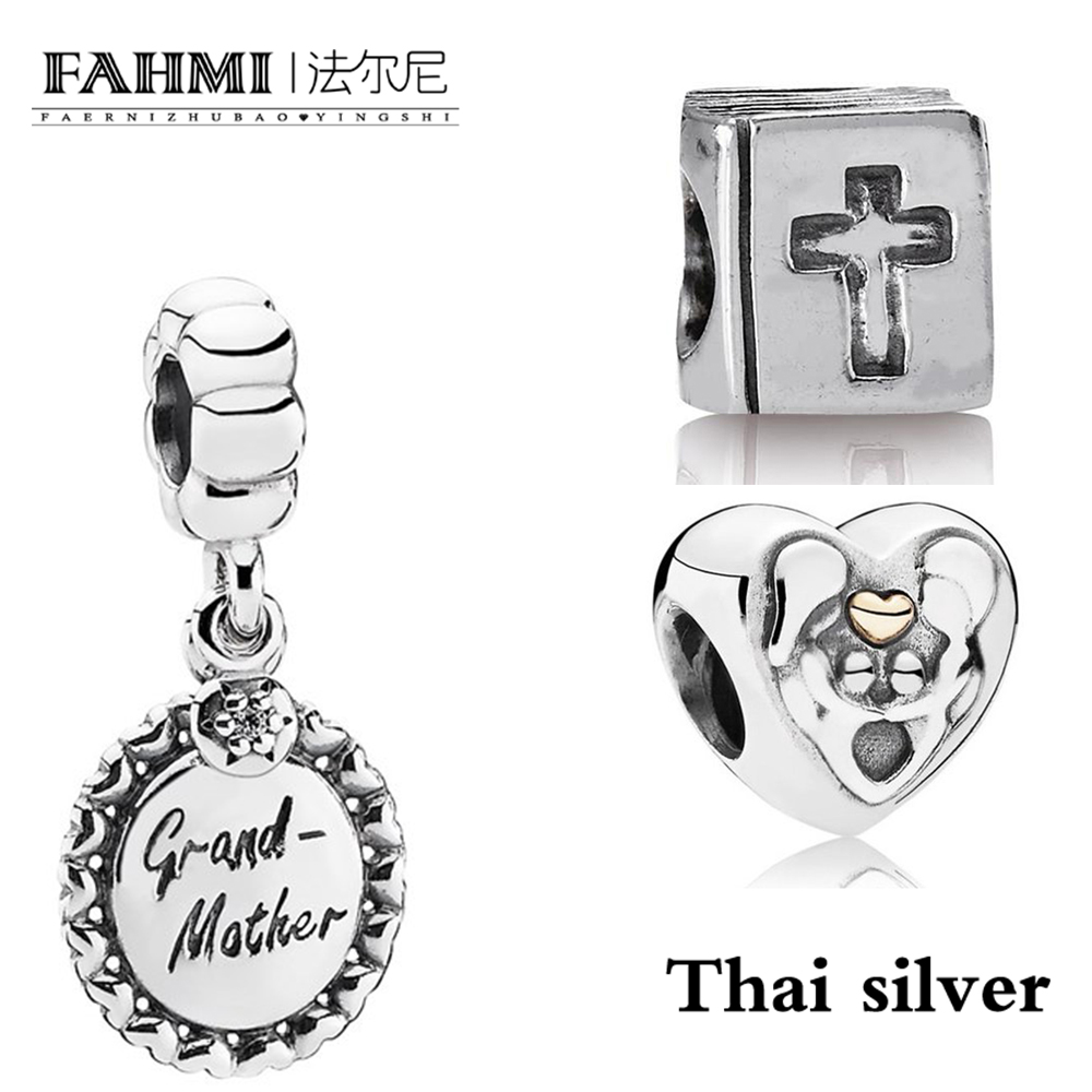 FAHMI Thai Silver GRANDMOTHER WITH CLEAR CZ DANGLE 791128CZ Heart Of The Family Charm - 791771 Bible Charm 790261FAHMI Thai Silver GRANDMOTHER WITH CLEAR CZ DANGLE 791128CZ Heart Of The Family Charm - 791771 Bible Charm 790261