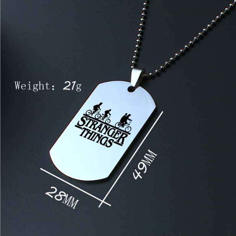 Stainless Steel Movie Stranger things Necklace Charm Pendant Men Women Fashion Jewelry