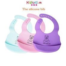Silicone Baby Bibs Waterproof Feeding Burp Cloths For Children Self Care