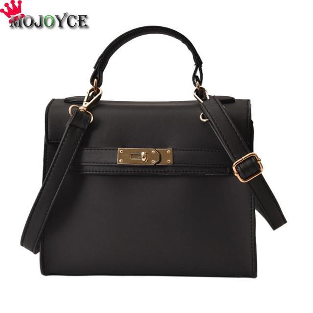 4fd723499050 Fashion Women PU Leather Handbag Female Pure Color Top-Handle Bags Matt  Solid Shoulder Bag