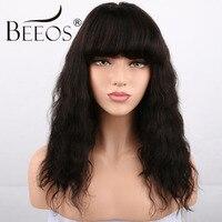 Beeos плотность 250% короткие Glueless Синтетические волосы на кружеве Человеческие волосы Искусственные парики с Синтетические чёлки волос волос