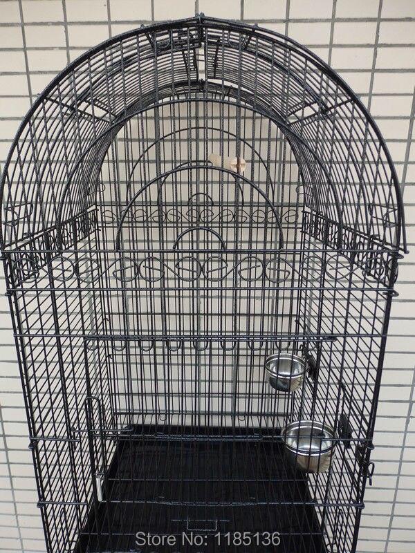Grande Cage à oiseaux ouverte Top perroquet Cage en métal Finch Macaw Cockatoo veine noire B10X - 3