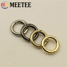 10Pcs 12mm Openable O Ring Buckles Keyring Leather Belt Strap Dog Chain Webbing Buckle Snap Clasp Clip Trigger DIY Accessories 20pcs lot spring gate d o ring openable keyring leather bag belt strap dog chain buckle snap clasp clip trigger accessories diy