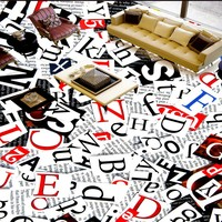 Free Shipping Custom English Alphabet 3D Stereo Floor Painting Mural Living Room Bedroom Studio Self Adhesive