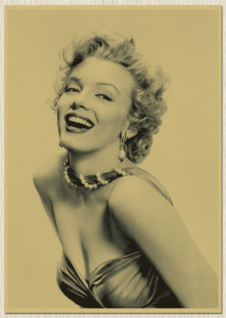 RO 263 Famous Movie star Marilyn Monroe Wall art craft painting ...