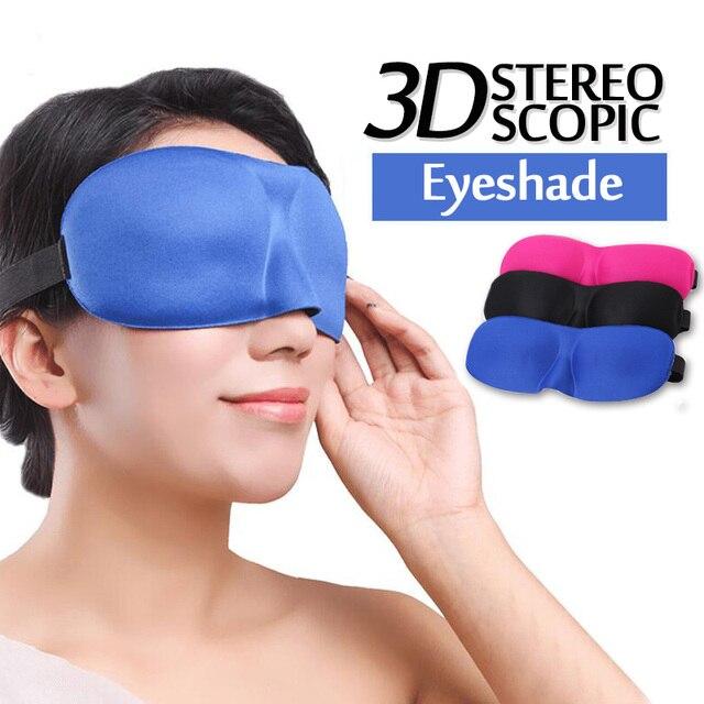 1Pcs 3D Sleep Mask Natural Sleeping Eye Mask Eyeshade Cover Shade Eye Patch Soft Women Men Portable Blindfold Travel Eyepatch