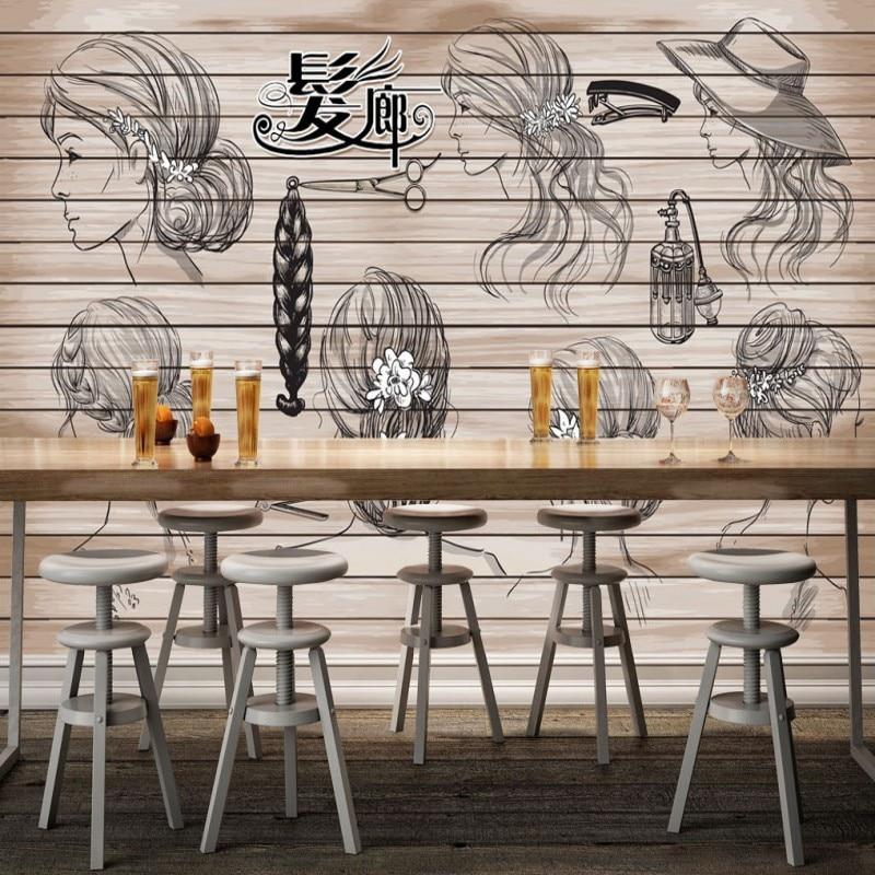photo wallpaper 3D Hair salon barber hair shop hair design background wall mural custom high quality wallpaper