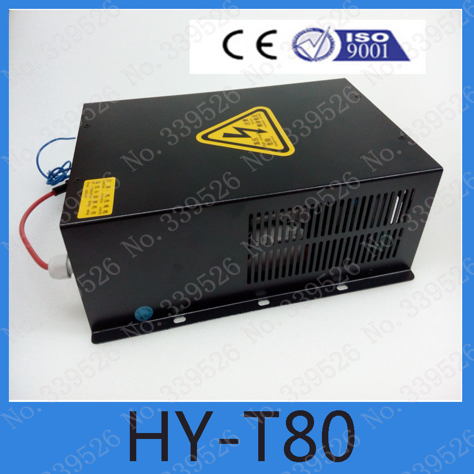 HY-T80  220v co2 laser power supply 80w of laser engraving and cutting machine high voltage flyback transformer hy a 2 use for co2 laser power supply