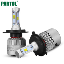 S3 Partol H4 LED Car Headlight Bulbs 72W 8000LM CREE Chips CSP LED Headlights All in one Headlamp High Low Beam Front Light 12V