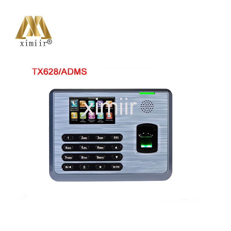 Standalone free sdk tcp/ip TX628 fingerprint reader 3000 user biometric time attendance with ADMS function for WAN network кальсоны user кальсоны