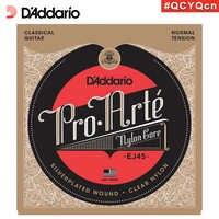 Cordes de guitare classique en Nylon pro-arte de fabrication américaine D'Addario Daddario EJ45, Tension normale