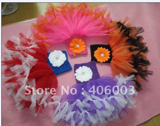 6 шт./лот смешанные Цвет Хэллоуин ручной юбка-пачка для малышей платье Новое поступление Платья для малышей