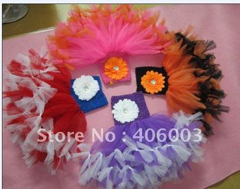 Free Shipping 6pcs/lot  Mixed Color Wholesale Halloween Handmade Baby Tutu Dress new arrival  Toddler Dresses
