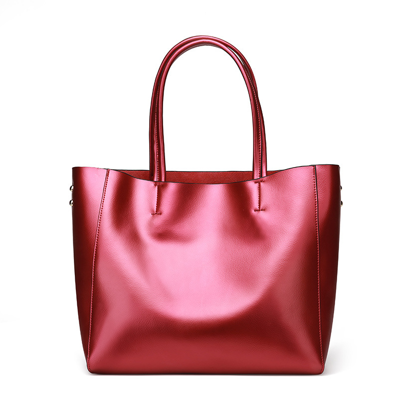 Factory new European and American fashion Genuine leather cowhide shoulder bag large capacity ladies shopping  women's bags european american women s genuine leather handbags ladies large capacity tote shoulder bag female fashion cowhide shopping purse