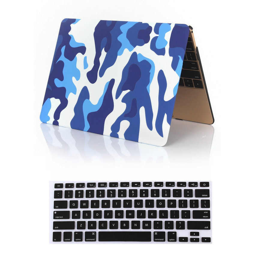 New Camouflage Laptop Case For Apple Macbook Air Pro Retina 11 12 13 15 Laptop Sleeve 13 Case 15 11.6 inch Shell + USA keyboard