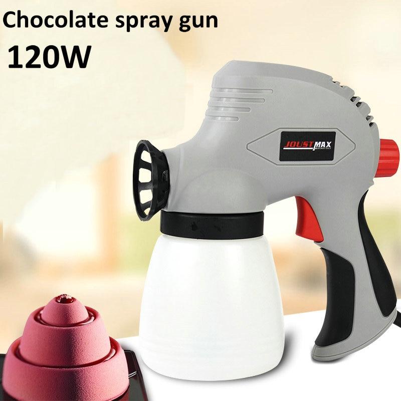 120W Chocolate liquid electric spray gun frosted turn sugar ice cream mousse cake decoration sandblasting machine