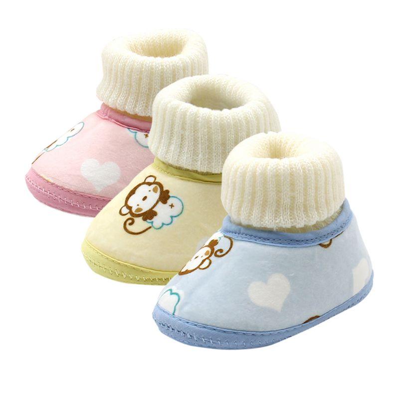 Baby Shoes Infants Crochet Knit Fleece