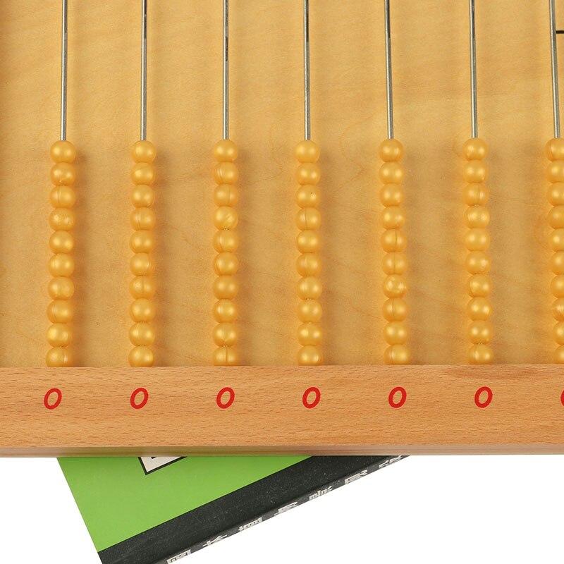 Montessori plat perle cadre mathématiques jouets petite enfance éducation préscolaire formation apprentissage jouets - 6