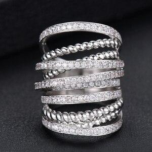 Image 3 - GODKI Monaco Thiết Kế Sang Trọng Twist Ngăn Xếp Có Thể Xếp Chồng Nhẫn Đối Với Phụ Nữ Cưới Cubic Zircon Engagement Dubai Naija Bridal Finger Nhẫn