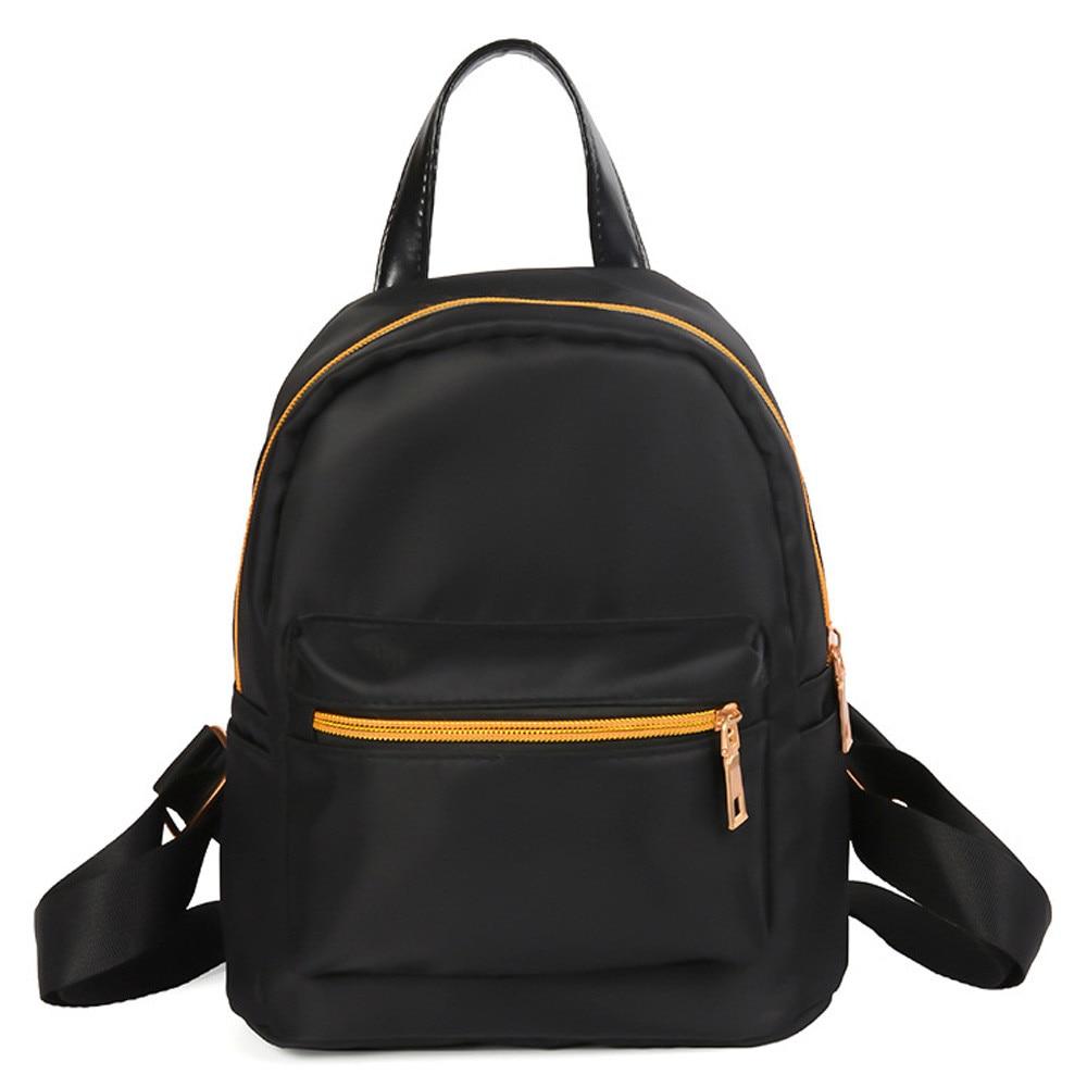 Backpack 2018 Women Fashion Teenage Girls Boys Solid Zipper Backpack School Bag Fashion Shoulder Bag Kanken mochilas mujer #8