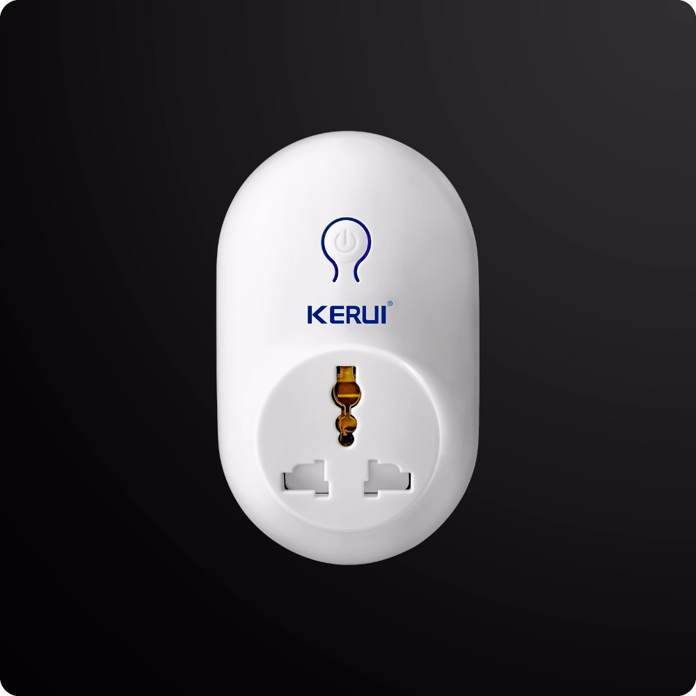 Kerui Wireless Remote Switch Smart Power Socket Plug 433MHz EU US UK AU Standard for Home Security Alarm Control kerui smart socket eu us uk au standard wifi ios android app control intelligent for home security alarm system outlet switch