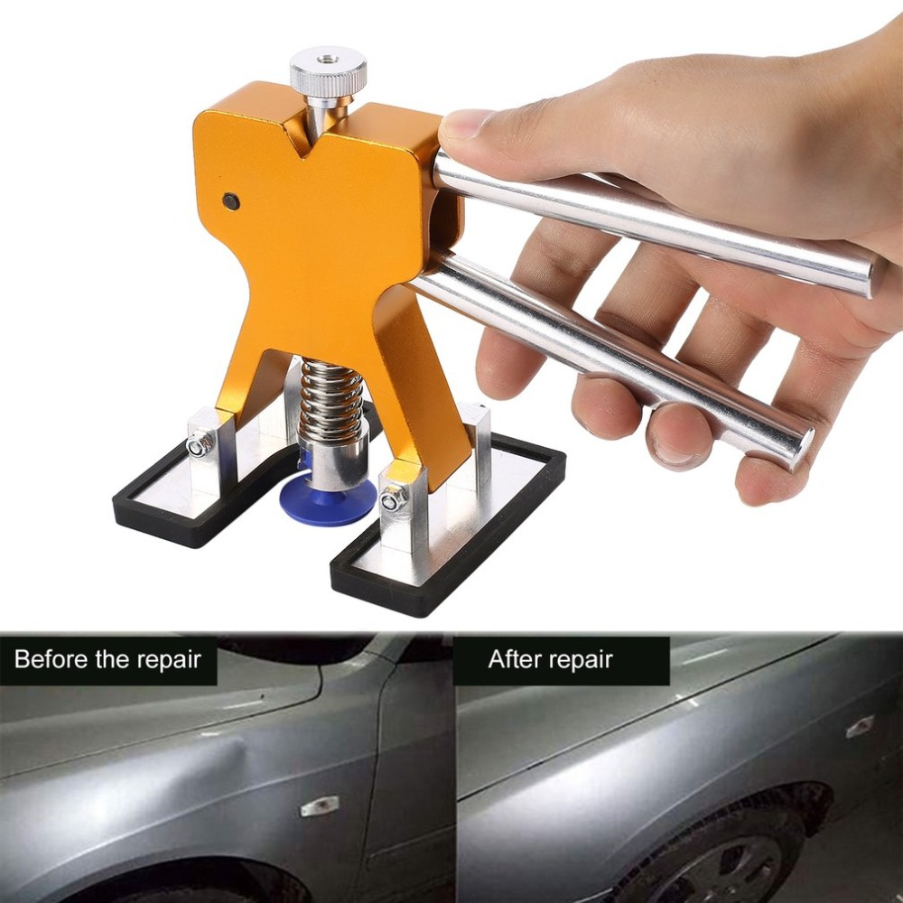 Auto Body Dent Removal Repair Tools Kit +18 Pcs Glue Puller Tabs for Car Hail Damage Repair Automotive Dent Lifter J28C29
