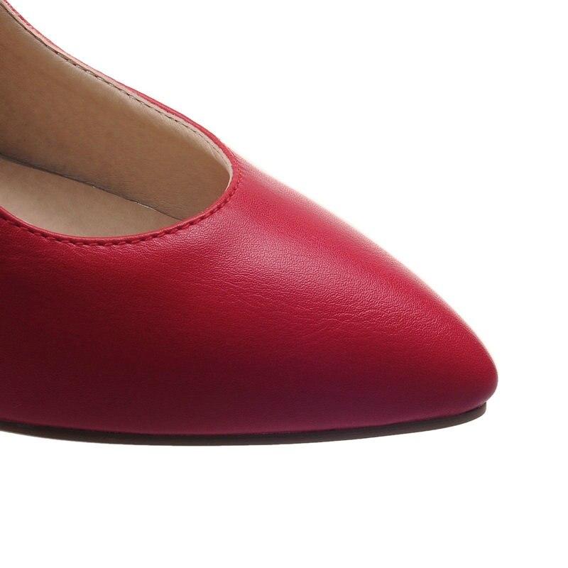 scarpe bianco a porta alti rosso tacchi anello punta nero 34 punta sottili punta pompe a stile donne Esveva poco 43 2019 profondo occidentale sandali fuori qUwS7z6