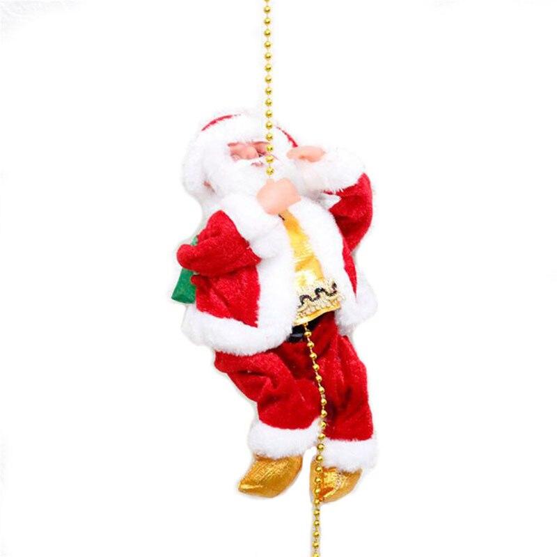 Cadeau de noël pour enfants livraison gratuite électrique noël père noël jouets animés en peluche porte murale décorations de noël