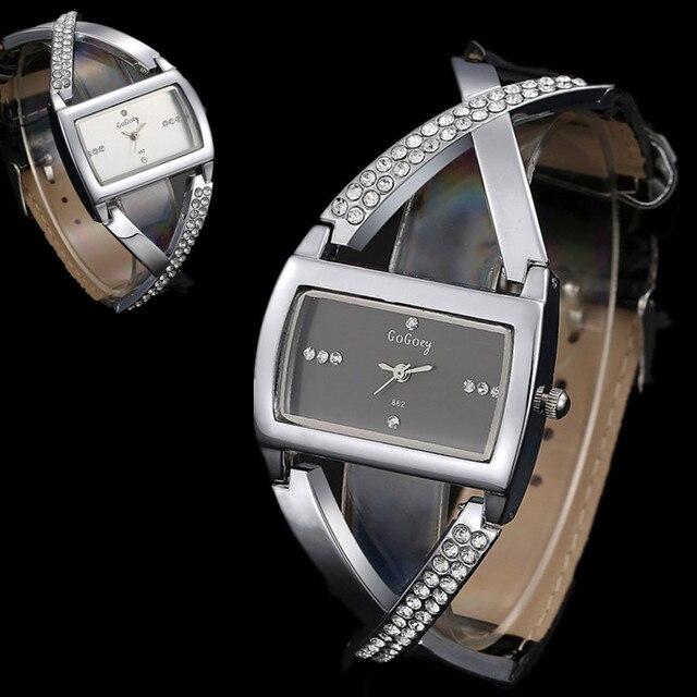 Relojes para mujer Gogoey reloj de pulsera de diamantes de imitación de lujo relojes de mujer reloj de moda para mujer