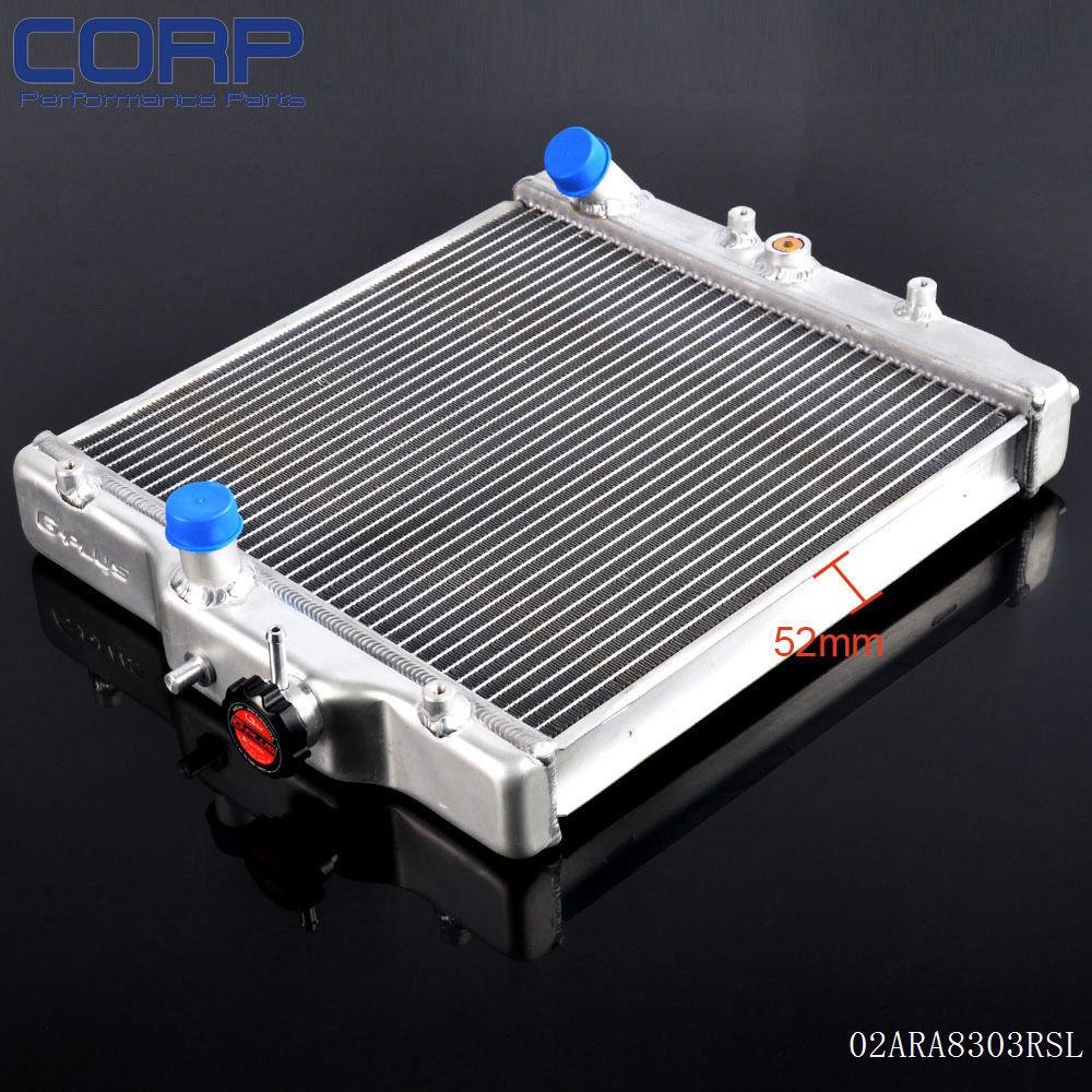 3 Row 52mm Aluminum Radiator For Honda Civic 92-00 EK EG D15/D16 SOHC DEL SOL