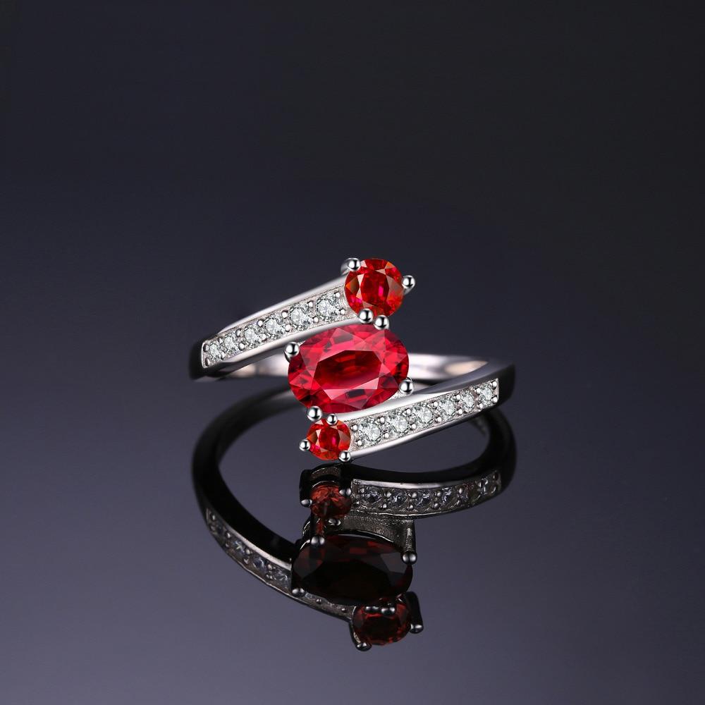 Fine Jewelry Womens Red Garnet Sterling Silver 3-Stone Ring rKP51kqNl