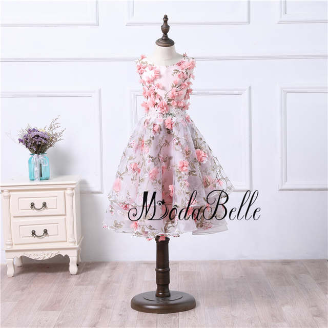 placeholder modabelle 3D Flowers Evening Dresses Long 2017 Mother And  Daughter Matching Dress For Wedding Party Abiye cd409af31781