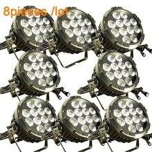 (8 упак.) led par света Открытый par может-12×10 W RGBWA Цвет мыть светодиодный свет IP65 этап Освещение