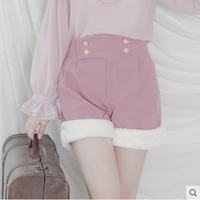 Princess Sweet Lolita Shorts Dolly Delly Original Design Plush Color Lantern High Waisted Shorts Fashion Women