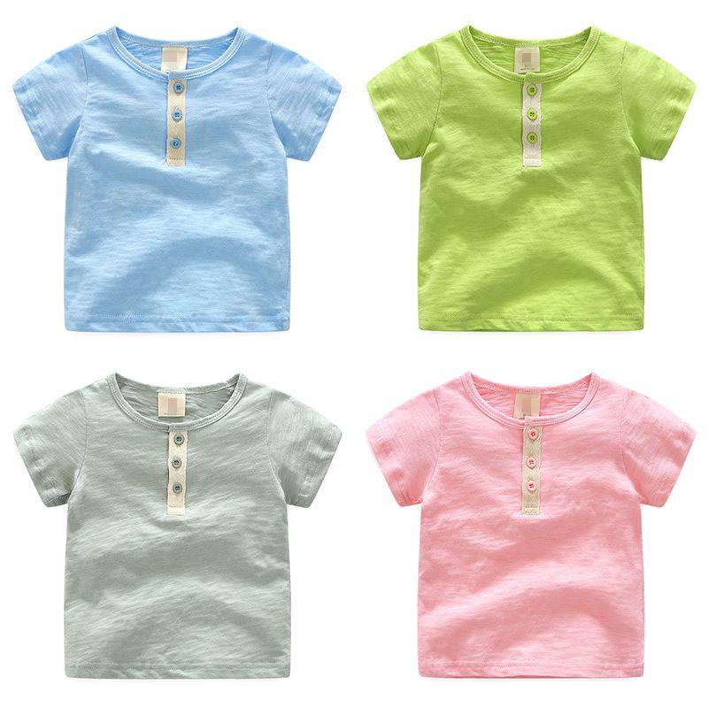 Baby Casual Short-Sleeve T-Shirt 2017 Summer Male Kids Children'S Clothing Boys O-Neck Top Basic Shirt Free Shipping