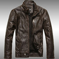 free shipping leather jacket men 2015 spring winter dress men outwear jacket coat 155