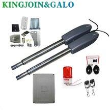 400 kg swing deur poort lineaire actuator motoren Kit 2 zender met fotocel alarm lamp