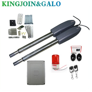 Image 1 - 400kg swing door gate linear actuator motors Kit 2 transmitter with  photocell alarm lamp